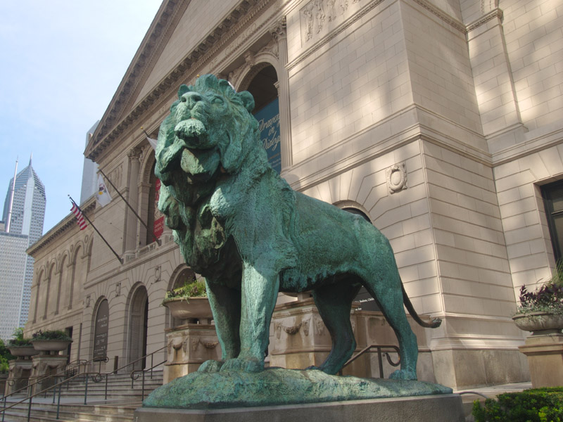 Chicago-Art- Institute-Lion-Sculpture