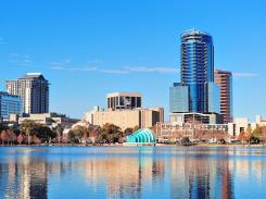 Orlando-Lake-Eola-with-Skyscrapers
