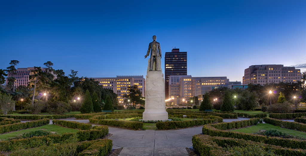 Huey-Long-Statue-at-State-Capitol